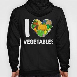 I Love Vegetable Veggie Food Hoody
