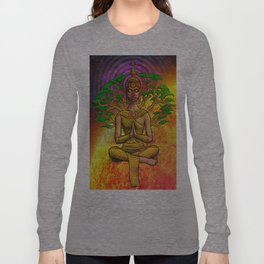 Psychedelic Buddha Long Sleeve T-shirt