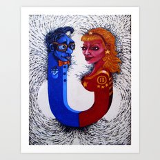 Opposites Attract Art Print