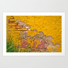 Mexico in Yellow Art Print