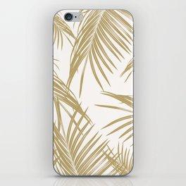 Gold Palm Leaves Dream #1 #tropical #decor #art #society6 iPhone Skin
