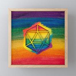 LGBT D20 Icosahedron of a Dream Framed Mini Art Print