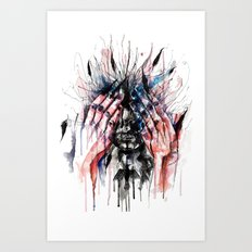 Metamorphosis-crow Art Print