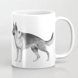 German shepherd - ink Coffee Mug