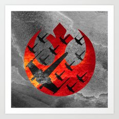 Star Wars Wraith Squadron in the Clouds Art Print