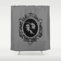 danny haas Shower Curtains featuring Danny by Micah Lee