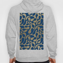 Abstract elegant navy blue faux gold animal print pattern Hoody