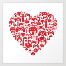 Gaming Love Art Print
