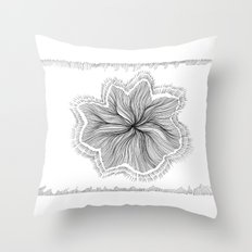 Jellyfish Star I B&W Throw Pillow