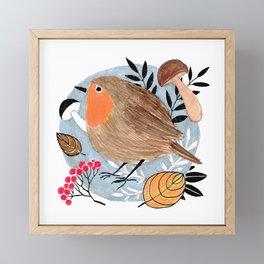 Robin Framed Mini Art Print