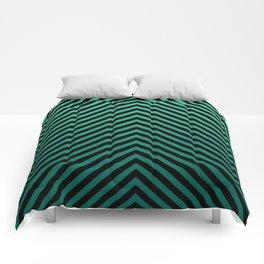 Emerald Green Chevron Modern Pattern Art Deco Comforters