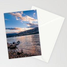 Sunset at Lake Wanaka, New Zealand Stationery Cards