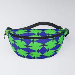 Diamond Squares Game Board Fish Faces Pattern Fanny Pack