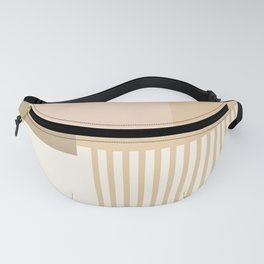 Sol Abstract Geometric Print in Tan Fanny Pack