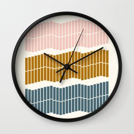 Geometric Piano Keys Wall Clock