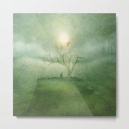 Greenery Sunrise Metal Print