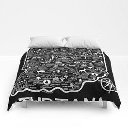 Indiana Map Comforters