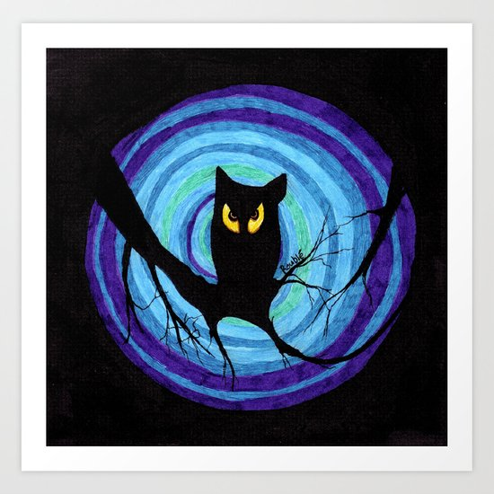 time for child stories: the EVIL OWL Art Print