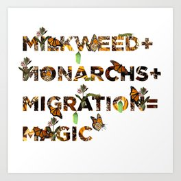 Monarch Magic Art Print