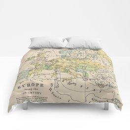 Vintage Map of Europe (1905) Comforters