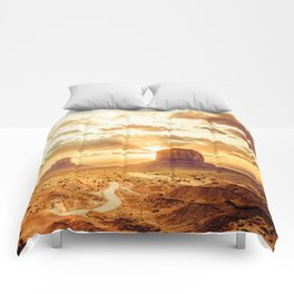 Monument Valley Sunrise Comforters
