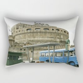 Castel Sant Angelo between past and present in color Rectangular Pillow