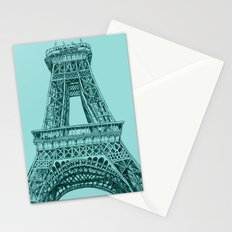 Paris in Teal Stationery Cards