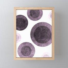 Faded Purple Circles #abstract Framed Mini Art Print