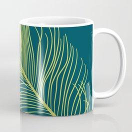 Peacock Feather - Green Coffee Mug