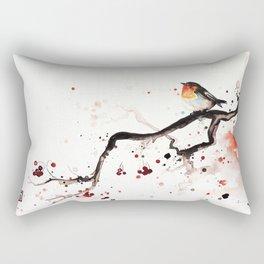 "The tiny wings ""The robin"" Rectangular Pillow"