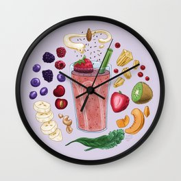 Smoothie Diagram Wall Clock