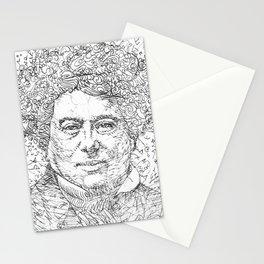 ALEXANDRE DUMAS pencil portrait .1 Stationery Cards