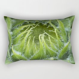 Teddy Bear Sunflower Bud Rectangular Pillow