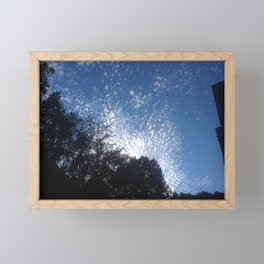 Cloud's firework Framed Mini Art Print