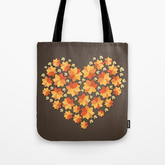 Denim Heart Tote Bag
