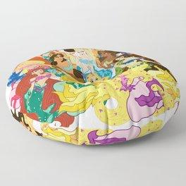 Koi Mermaids Floor Pillow