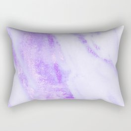 Shimmery Violet Purple Marble Metallic Rectangular Pillow