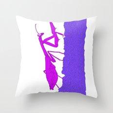 Pink Praying Mantis Throw Pillow