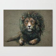 Lion background Canvas Print