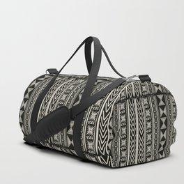 Boho Mud cloth (Black and White) Duffle Bag