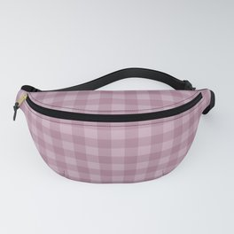 Pink gray simple plaid patterns . Fanny Pack