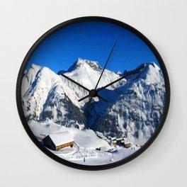 Winter Panorama in Austria Wall Clock