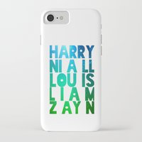 one direction iPhone & iPod Cases featuring One Direction by Monika Strigel®