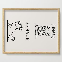 Inhale Exhale Frenchie Serving Tray