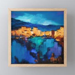 Sunset Over the Village 3 Framed Mini Art Print