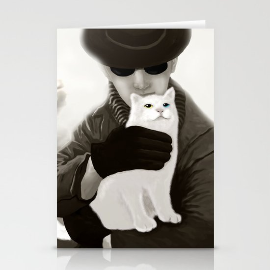 Cat and Alien Stationery Cards