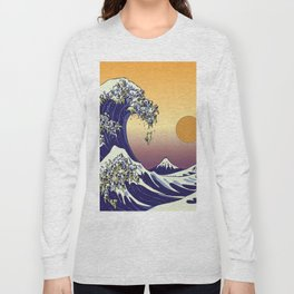The Great Wave of Pug Long Sleeve T-shirt