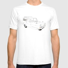 Only Fools and Horses Robin Reliant SMALL White Mens Fitted Tee