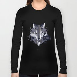 Sif the Great Grey Wolf (without bg) Long Sleeve T-shirt
