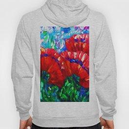 3 Poppies  by Lena Owens Hoody